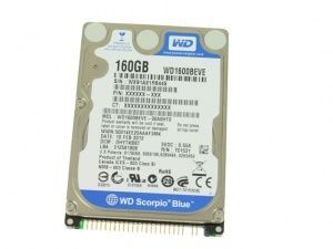 Жесткий диск Western Digital Scorpio Blue 160 GB (WD1600BEVE)